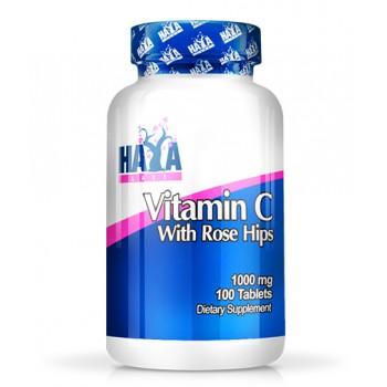 Haya Labs Vitamin C with Rose Hips 1000 mg 100 tab