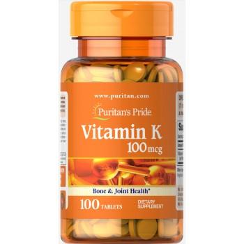 Puritan`s Pride Vitamin K 100 mcg 100 tab