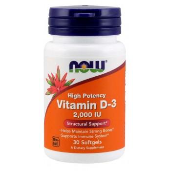 Now Vitamin D3 2000IU 30 softgels