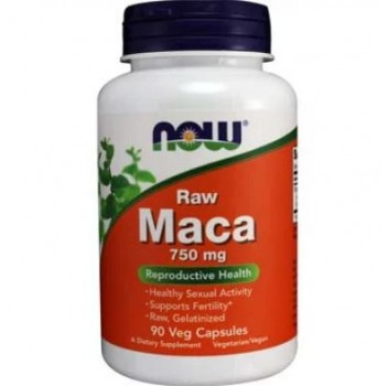 Now Maca Raw 750 mg 90 vcaps