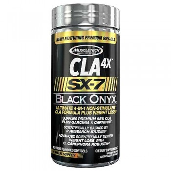 Muscletech SX-7 Black Onyx CLA 4X 112 softgel