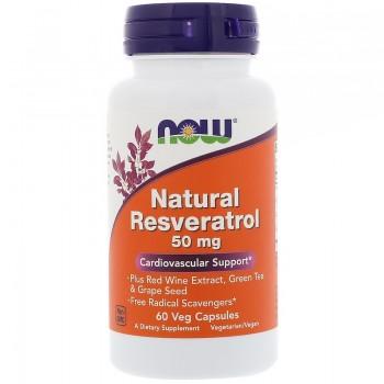 Now Natural Resveratrol 50 mg 60 vcaps