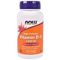 Now Vitamin D3 1000 IU 180 softgels