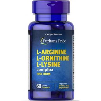 Puritan`s Pride L-Arginine L-Ornithine L-Lysine complex 60 caps