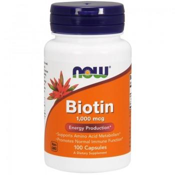 Now Biotin 1000 mcg 100 caps