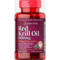 Puritan`s Pride Red Krill Oil 1000 mg 60 softgels