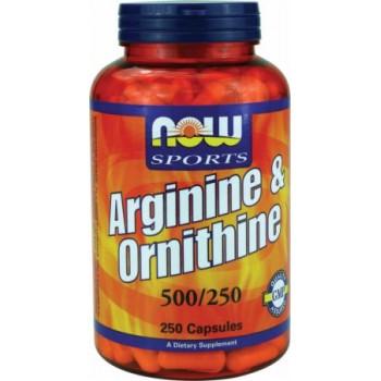 Now Arginine & Ornithine 250 caps