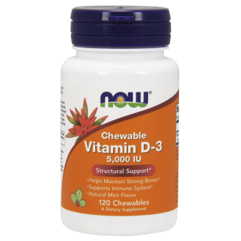 Now Vitamin D3 5000 IU Chewable 120 Chewable