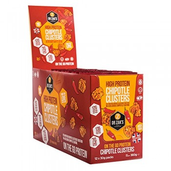 Dr. Zak's High Protein Chipotle Clusters 12x30 g packs