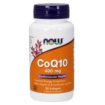 Now CoQ 10 Cardiovascular Health 400 mg 30 softgels