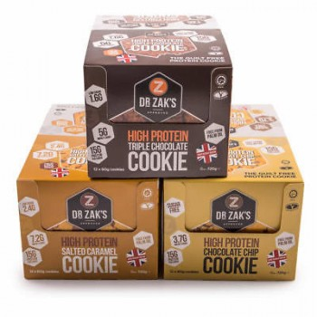 Dr. Zak's High Protein Cookie 12x60g