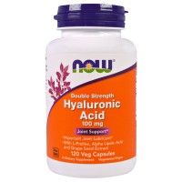 Now Hyaluronic Acid 100 mg Double Strength 120 vcaps