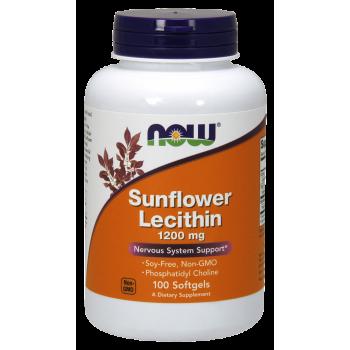 Now Sunflower Lecithin 1200 mg Non-GMO 100 softgel