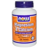 Now Magnesium&Calcium + Zinc & Vit D3 100 tab