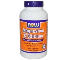 Now Magnesium&Calcium + Zinc & Vit D3 250 tab