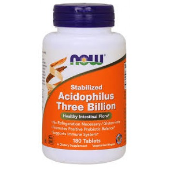 Now Stabilized Acidophilus Three Billion 180 tab