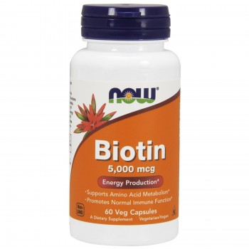 Now Biotin 5000 mcg 60 veg caps