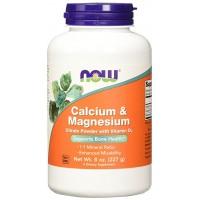 Now Calcium & Magnesium Citrate + Vit D3 227g