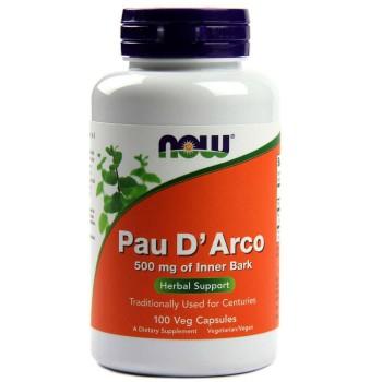 Now Pau D`arco 500 mg 100 vcaps