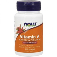 Now Vitamin A 10,000 IU 100 softgel