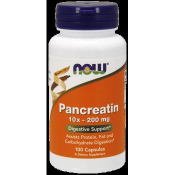 Now Pancreatin 10x 200 mg 100 caps