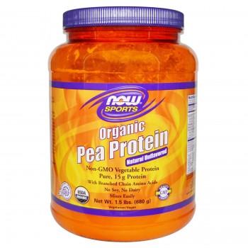 Now Organic Pea Protein 680 g