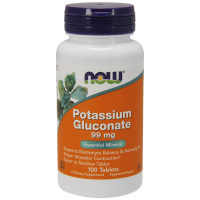Now Potassium Gluconate 99 mg 100 tab