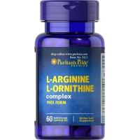 Puritan`s Pride L-Arginine L-Ornithine 1000 mg/ 500 mg 60 caps