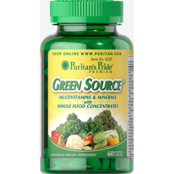 Puritan`s Pride Green Source Multivitamin & Minerals 60 caps