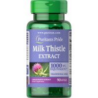 Puritan`s Pride  Milk Thistle 4:1 Extract 1000 mg (Sylimarin) 90 softgels