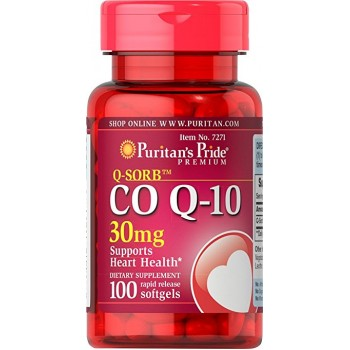Puritan`s Pride QSorb CO Q10 30 mg 100 softgel