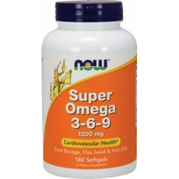 Now Super Omega 3-6-9 1200mg 180 softgels