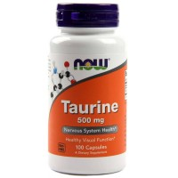 Now Taurine 500 mg 100 vcaps