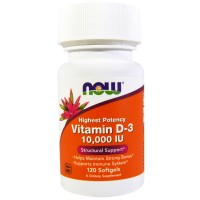 Now Vit D3 10000 IU 120 softgel