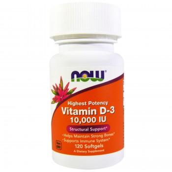 Now Vitamin D3 10000 IU 120 softgels