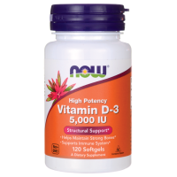 Now Vit D3 5000IU 120 softgel