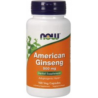 Now American Ginseng 500 mg 100 veg caps