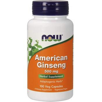 Now American Ginseng 500 mg 100 veg caps