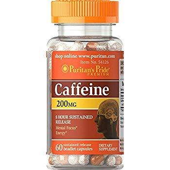 Puritan`s Pride Caffeine 200 mcg 60 caps