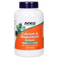 Now Calcium & Magnesium + Vit D3 and Zinc 120 softgel