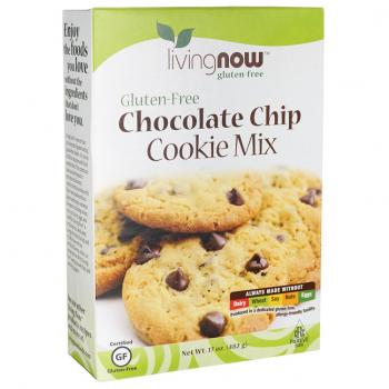 Now Chocolate Chip Cookie Mix Gluten Free-482 gr