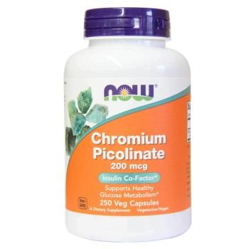 Now Chromium Picolinate 200 mcg 250 veg caps