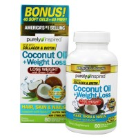 Purely Inspired Coconut Oil Weight Loss 80 softgels
