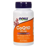 Now CoQ10 60 mg with omega-3 fish oil 60 softgels
