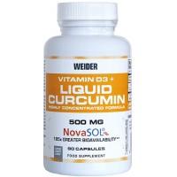 Weider Vitamin D3 and Liquid Curcumin 90 caps