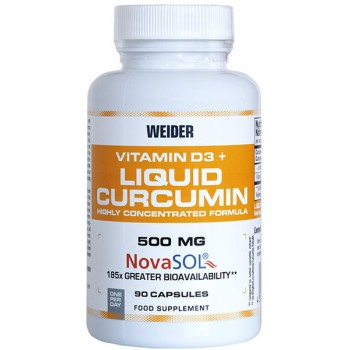 Weider Vitamin D3 and Liquid Curcumin 90 caps