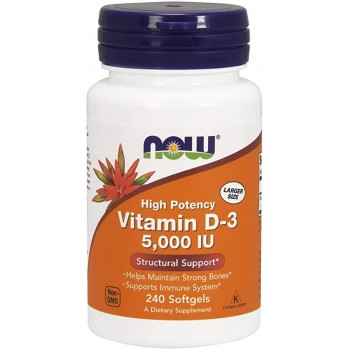 Now Vitamin D3 5000 IU 240 softgels