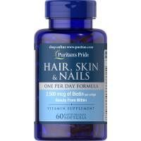 Puritan`s Pride Hair, Skin & Nails 60 softgel