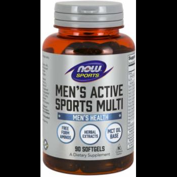 Now Men`s Active Sports Multi 90 softgels