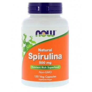 Now Natural Spirulina 120 veg caps